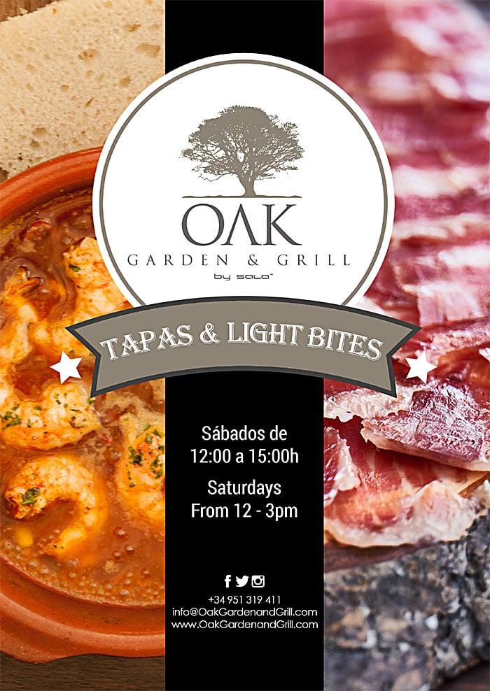 Tapas & Light Bites every Saturday