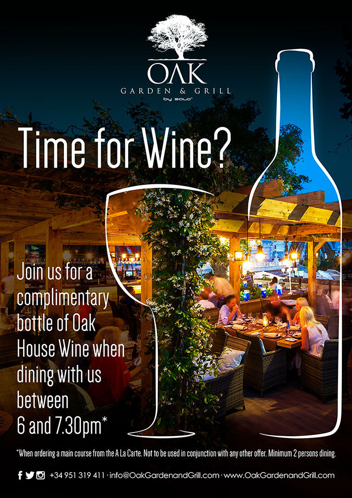 Time for Wine free bottle of wine at Oak