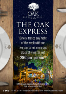 2 course set menu - OAK Express Marbella